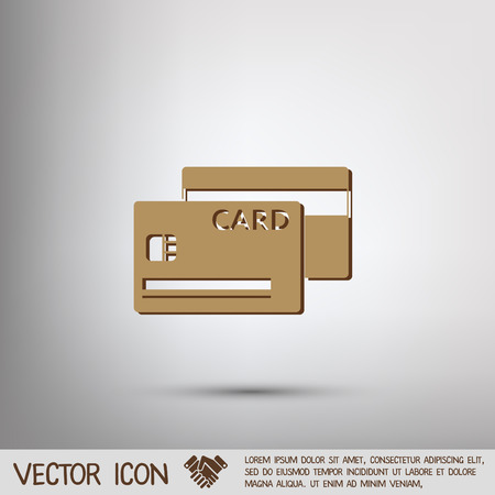 card: credit card. Illustration