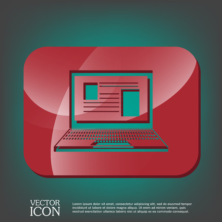 netbooks: notebook laptop icon. web sign