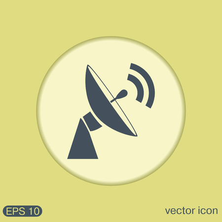 radar: satellite dish icon. radar sign. antenna symbol Illustration