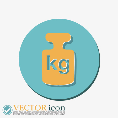 denoting: weight icon, symbol denoting a measure of weight