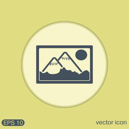 image icon: picture, image icon. art sign