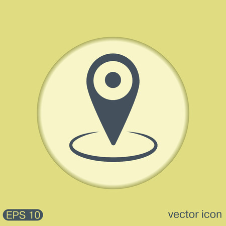 map pin: pin location on the map. local pin