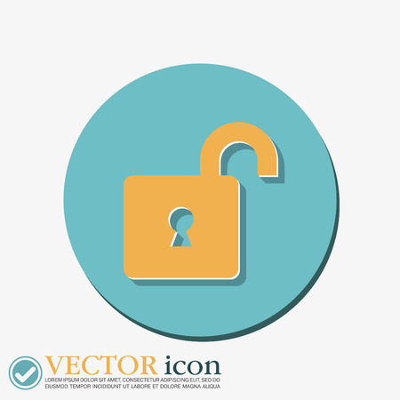 latch: padlock symbol icon Illustration
