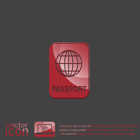 citizenship: international passport icon. Symbol of travel . Icon personal document
