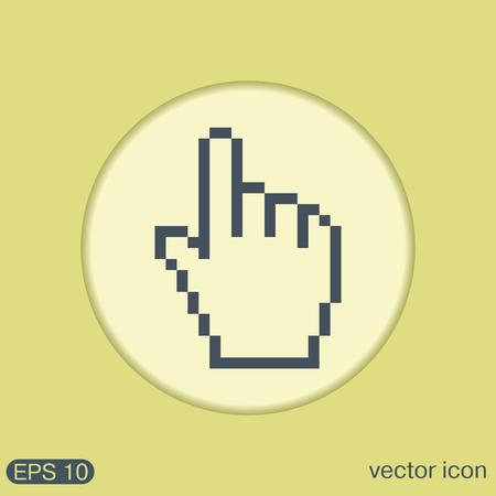 hand cursor: mouse hand cursor. pixel view