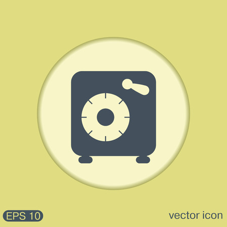 safe with money: bank vault safe icon Illustration