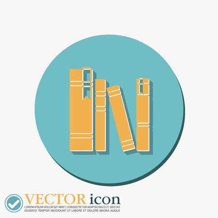 book spine spines of books icon symbol of a science and book spine spines of books icon symbol of a science and literature vector
