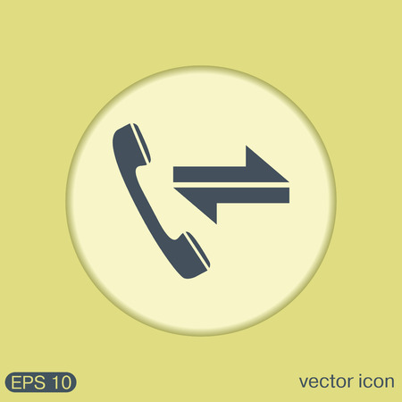 incoming and outgoing call. symbol of the incoming call. Handset rings Illustration