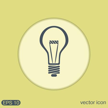 Glühbirne Zeichen. Zeichen Ideen. Glühlampe. Symbol Des Elektrischen ...