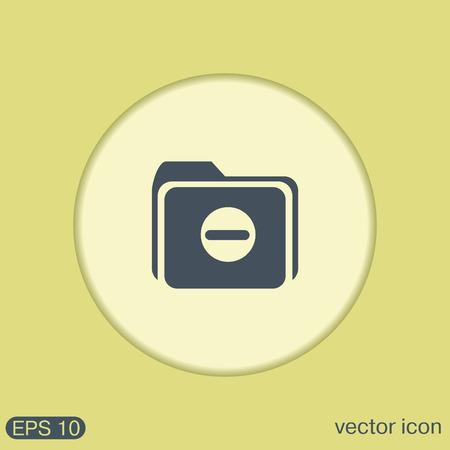 web directories: folder for documents sign. Illustration