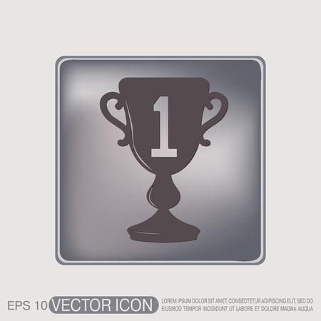 lugar: taza para el primer lugar icono