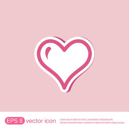 heart icon: heart icon sign.  valentine icon Illustration