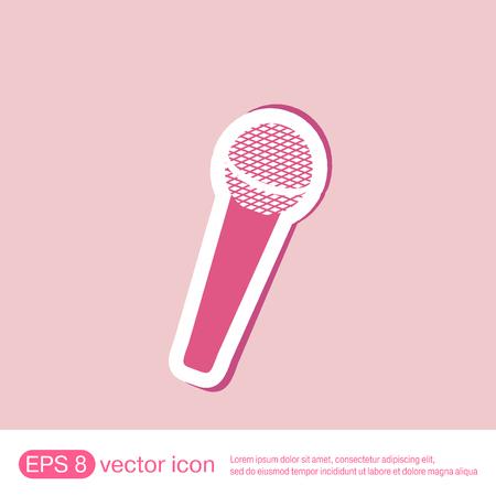 instrument panel: microphone sign. musical symbol singing. pop sign