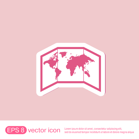 oceania: World map-countries icon Illustration