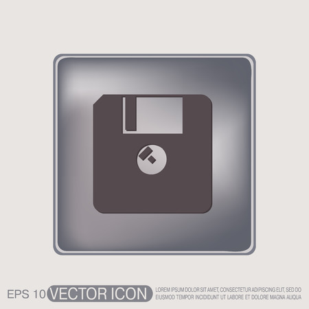 floppy: floppy, diskette. symbol store information document. computer floppy disk icon .