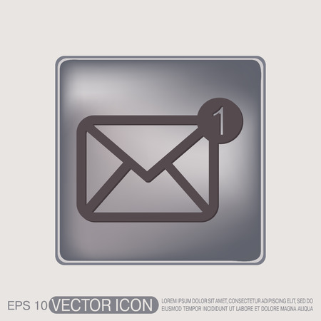 email icon: postal envelope sign. e-mail symbol . icon envelope. Illustration
