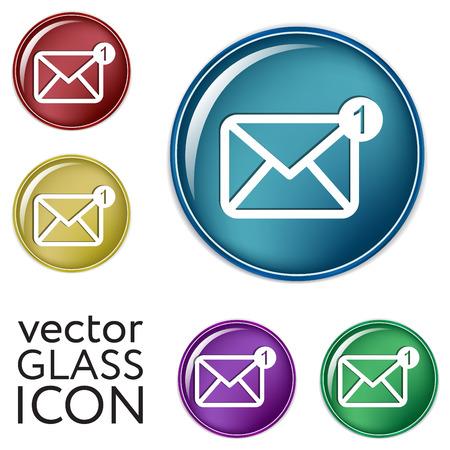 letter envelopes: postal envelope sign. e-mail symbol . icon envelope. Illustration