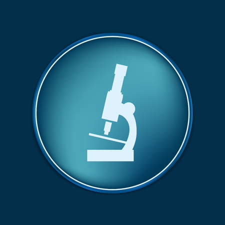enlarged: microscope sign. symbol icon studying biology or medicine . enlarged image