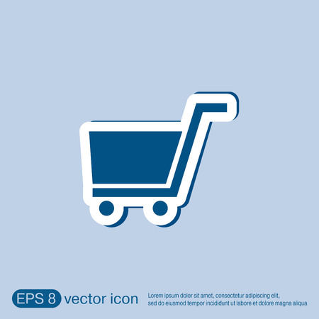internet shop: shopping cart icon. vextor illustration. cart online store, Internet shop. basket shopping