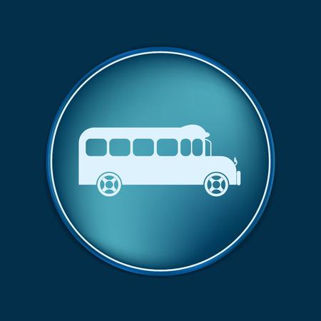 study icon: School bus. Symbol study. Icon transport