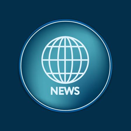 globe  the terrestrial ball: globe symbol. news. Symbol news. Icon globe planet