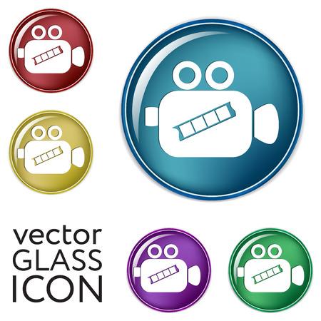 video camera icon: Video camera icon vector