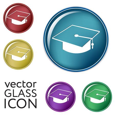 institute: graduate hat sign. Education sign. symbol icon college or institute. graduation