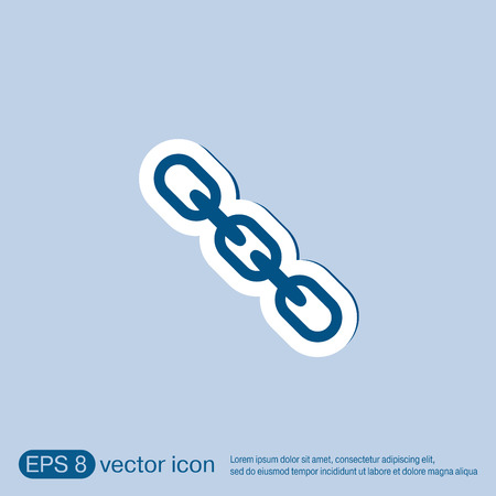 chain link: Links, chain icon Illustration