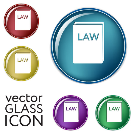 judgments: law book icon. set of laws. symbol of justice