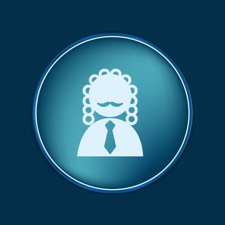 judicial: judge icon avatar. symbol of justice