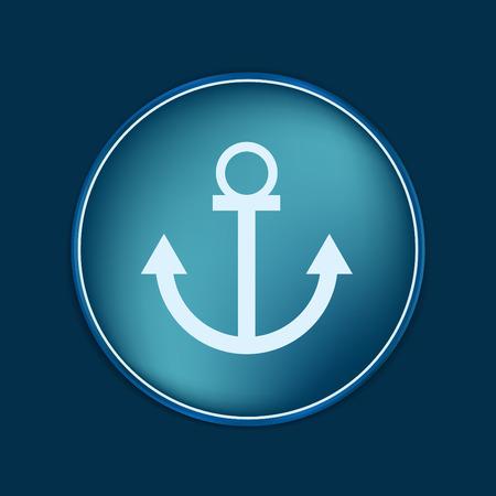 Nautical Anchor vector. anchor seafaring character. icon marine instrument Illustration