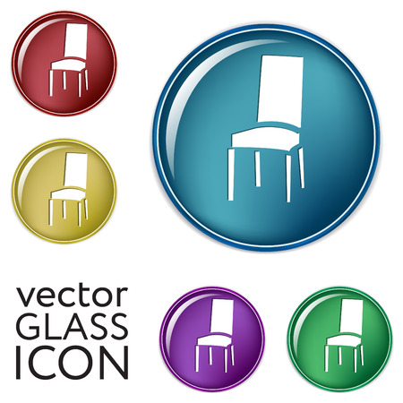 home icon: chair icon. symbol furniture. icon home interior