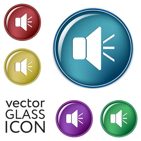loudspeaker sign. Volume icon . sound icon Illustration