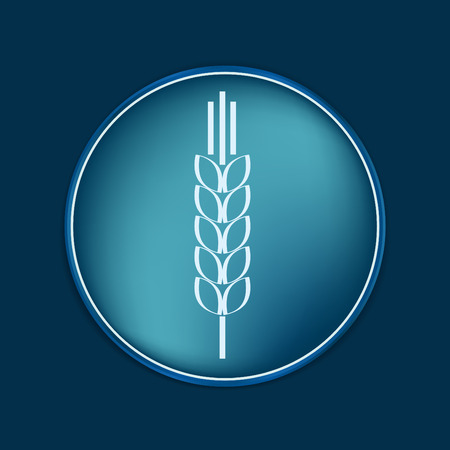 spike: wheat spike ears icon