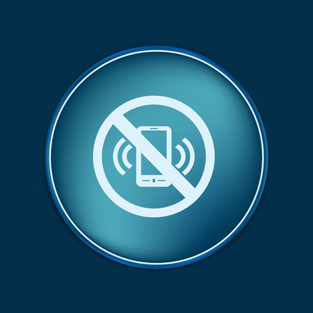 phone ban: forbidden to use phone. forbidding symbol
