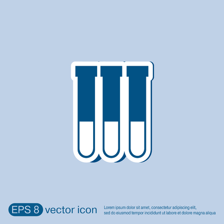 poison symbol: flask bulb symbol chemistry. symbol icon of medicine or chemistry . the study of science Illustration