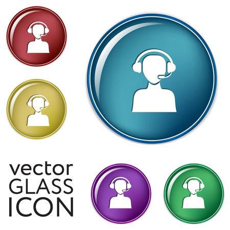 customer support: customer support avatar Illustration