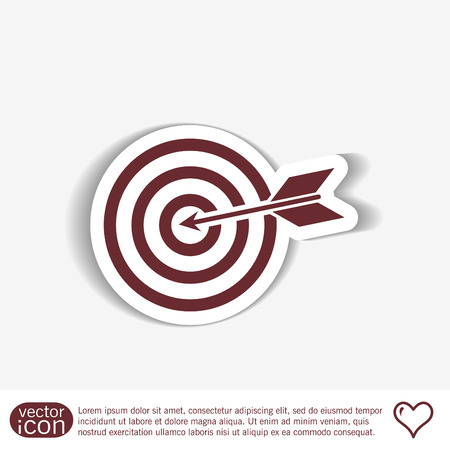 business game: target symbol. sporty character. hit the target