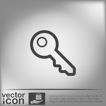 key pictogram teken
