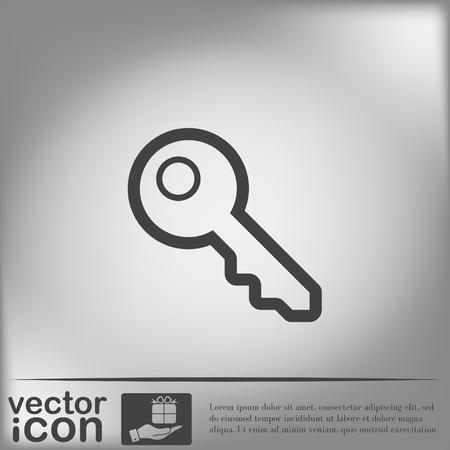 tecla enter: signo clave icono Vectores