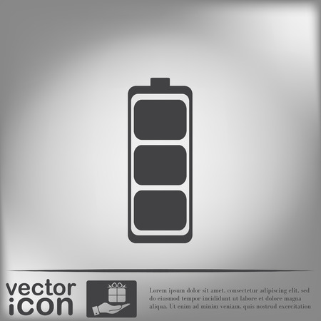 amperage: charged battery. symbol a charged battery. icon energy Illustration