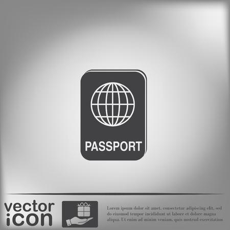 citizenship: international passport icon. Symbol of travel . Icon personal document