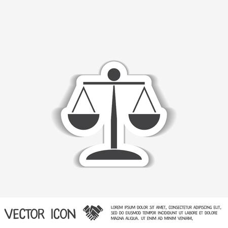equilibrium: scales of justice icon. symbol of justice Illustration