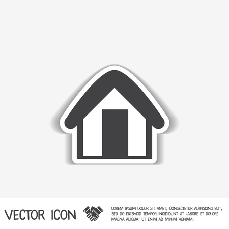 apprentice: House icon. Home sign