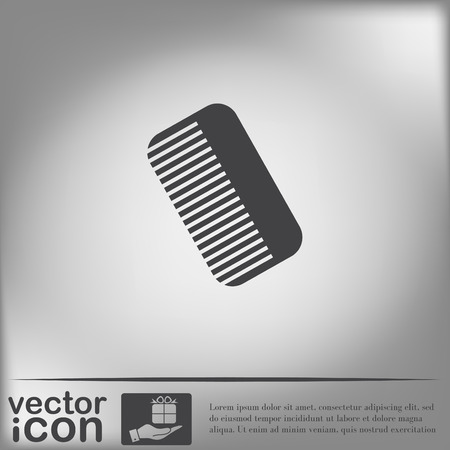barbershop: comb sign. barbershop. symbol of hair and beauty salon