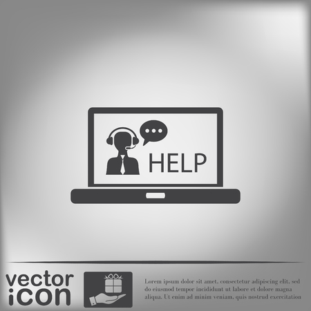 customer support: notebook with customer support Illustration