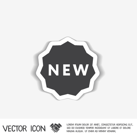 sign symbol: label new sign symbol of the new icon . novelty Illustration
