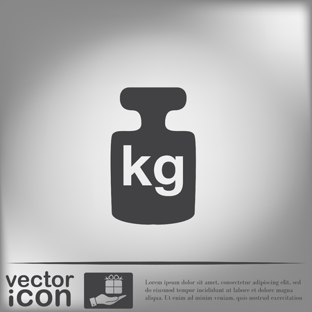 kilograms: weight icon, symbol denoting a measure of weight