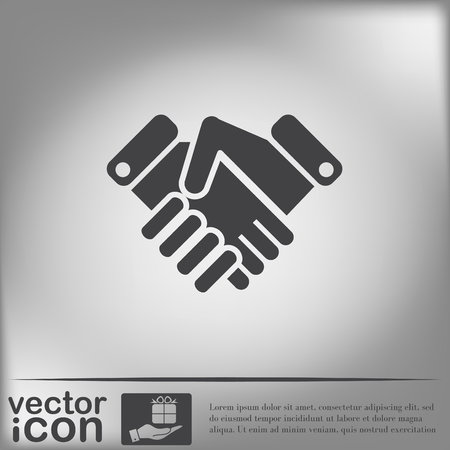 business hand shake: shaking hands icon, handshake. business and finance symbol