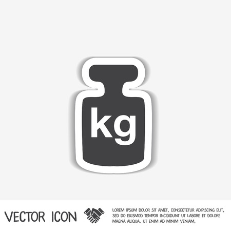 lbs: weight icon, symbol denoting a measure of weight